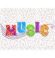 bright abstract music banner concept vector image vector image