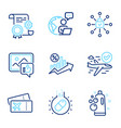 business icons set included icon as like photo vector image vector image