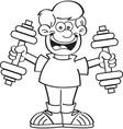 Cartoon boy exercising vector image