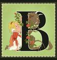 children book cartoon fairytale alphabet letter b vector image vector image