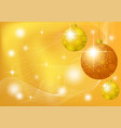 christmas background with stars and balls vector image