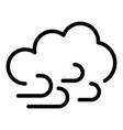cloud and wind icon outline style vector image vector image