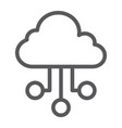 cloud network line icon internet and seo vector image