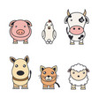 color of animals on a farm and pets vector image vector image