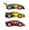Colored sports cars vector image vector image
