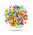 colorful circle birthday confetti background vector image vector image