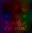 Colorful fireworks background for Carnival party vector image vector image