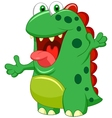 Cute green monster cartoon vector image vector image