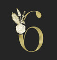 decorative gold numeral on the black background vector image vector image
