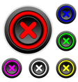 Delete sign buttons set vector image vector image
