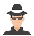 detective or spy icon vector image