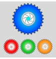 diaphragm icon Aperture sign Set colourful buttons vector image vector image