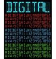 Digital Font vector image vector image