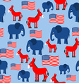 Elephant and Donkey seamless pattern Texture for vector image vector image