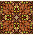 Ethnic mosaic ornamental background vector image