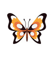 exotic color butterfly hand drawn moth wings or vector image vector image