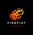 fire fist flame hand logo icon vector image