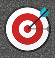 Flat of targeting with icons vector image vector image