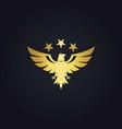 gold bird eagle star logo vector image vector image