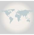 Gray World Map vector image vector image