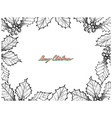 hand drawn set of christmas holly twig frame vector image vector image