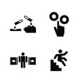 hazard and danger simple related icons vector image vector image