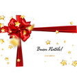 holiday christmas red gift silk bow vector image vector image