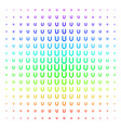 horseshoe magnet shape halftone spectral effect vector image vector image
