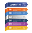 infographic data strategy with lorem ipsum vector image vector image