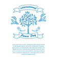 international day peace promotional poster vector image