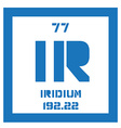 Iridium chemical element vector image vector image