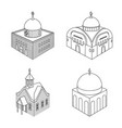 isolated object architecture and building icon vector image