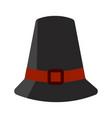 isolated pilgrim hat vector image