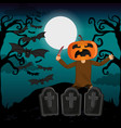 kid and halloween vector image vector image