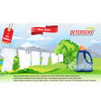 laundry detergent ads template with package design vector image
