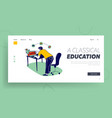 learning man watching lesson school webinar vector image vector image