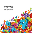 mathematical background vector image vector image