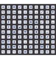 Medicine icon set square vector image