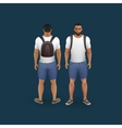 men wearing shorts and t-shirt vector image vector image