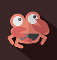 Modern Flat Design Crab Icon vector image vector image