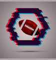 modern style sport banner with american football vector image vector image
