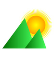 Mountain sunrise logo vector image vector image