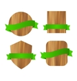 Nature eco green wooden labels vector image