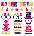 new year party 2020 banners and party props vector image vector image