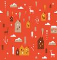 print seamless christmas pattern vector image vector image