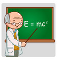 science teacher teaching at class vector image