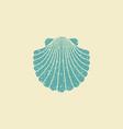 sea shell flat vintage icon vector image vector image