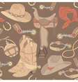 seamless cowboy pattern vector image
