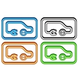 set electric car icon vector image vector image