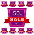 set of discount stickers vector image